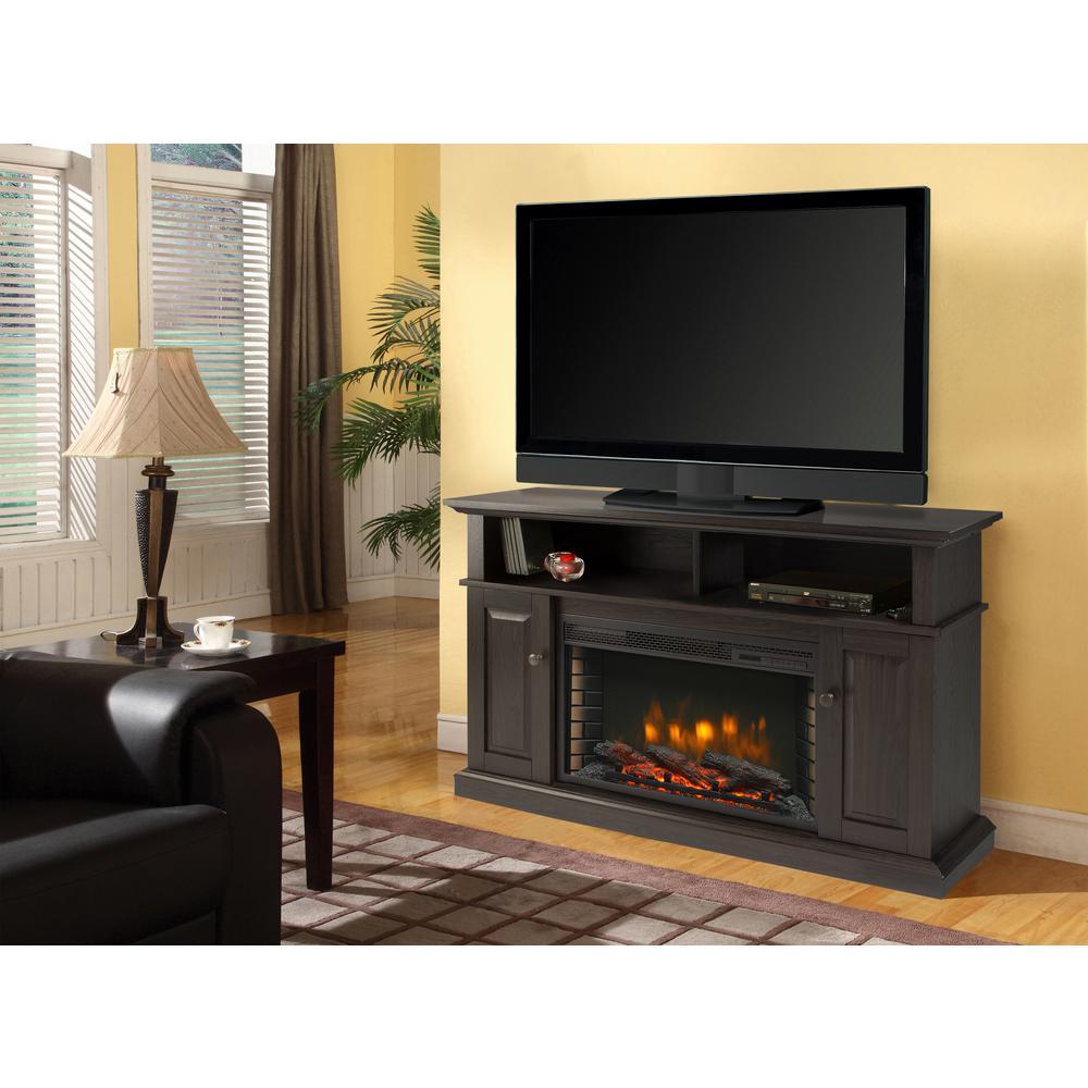 Muskoka Delaney 48 inch Freestanding Electric Fireplace TV Stand in Rustic Brown by Muskoka