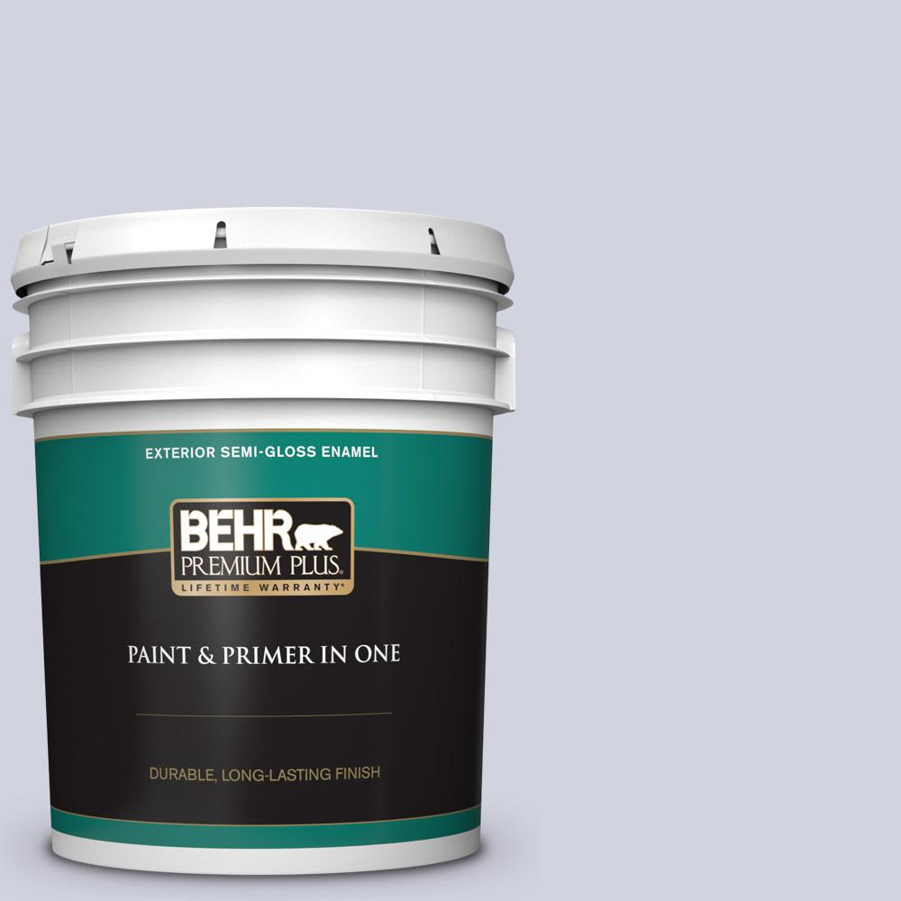 Behr Premium Plus 5 Gal S560 1 Courteous Semi Gloss Enamel Exterior Paint And Primer In One 505005 The Home Depot