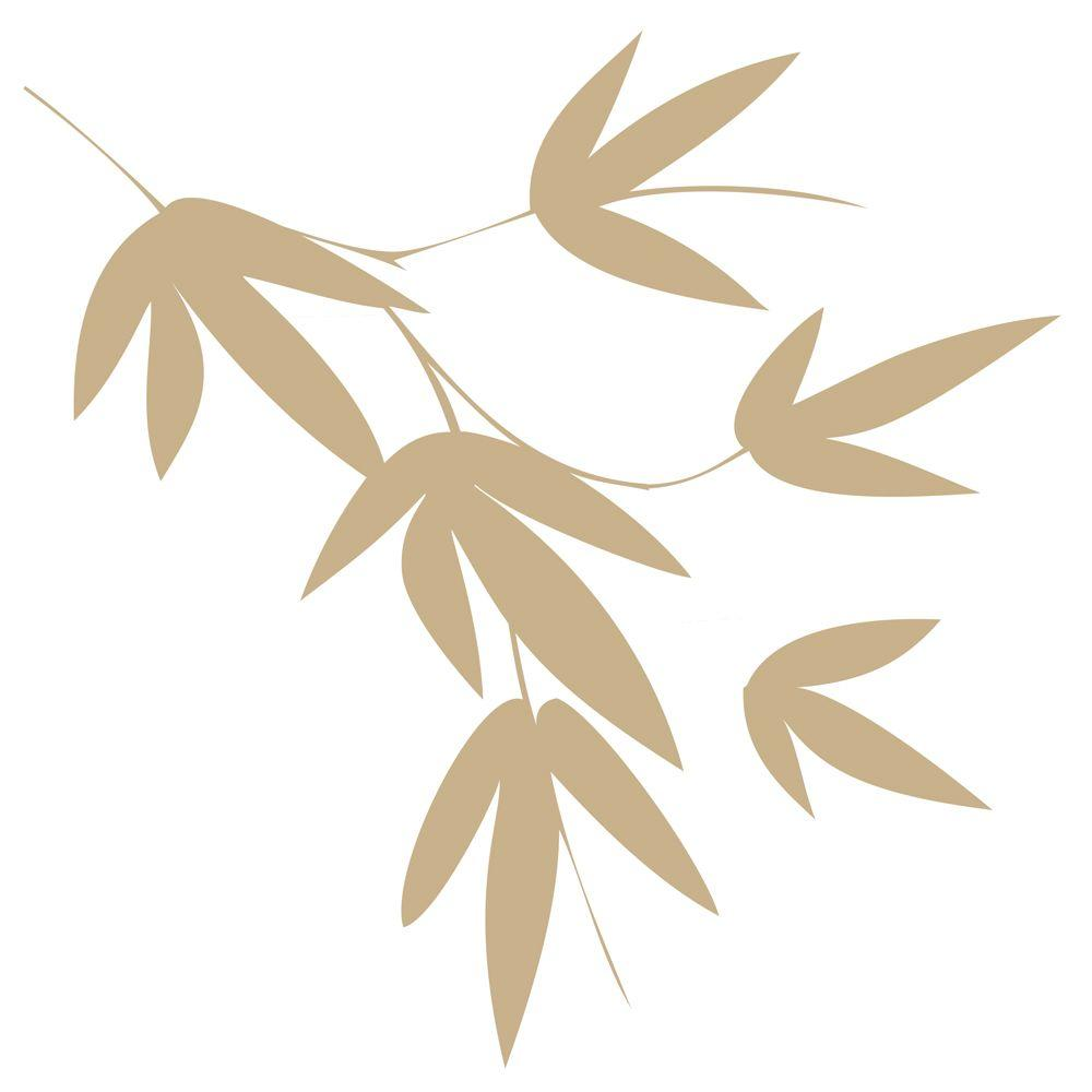 Stics Deco 13 in. x 39 in. Flora - Sage Peel and Stick Wall 2-Sheet Decal-DISCONTINUED