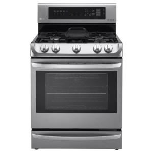LG Electronics 6.3 cu. ft. Gas Range with ProBake Convection Oven in Stainless Steel by LG Electronics