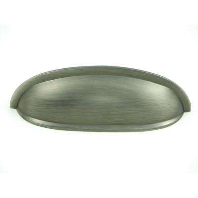 Hudson 3 in. Weathered Nickel Cup Cabinet Drawer Pull (10-Pack)