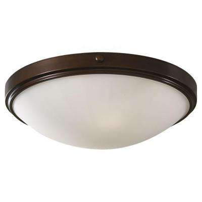 Perry 2-Light Heritage Bronze Flush Mount