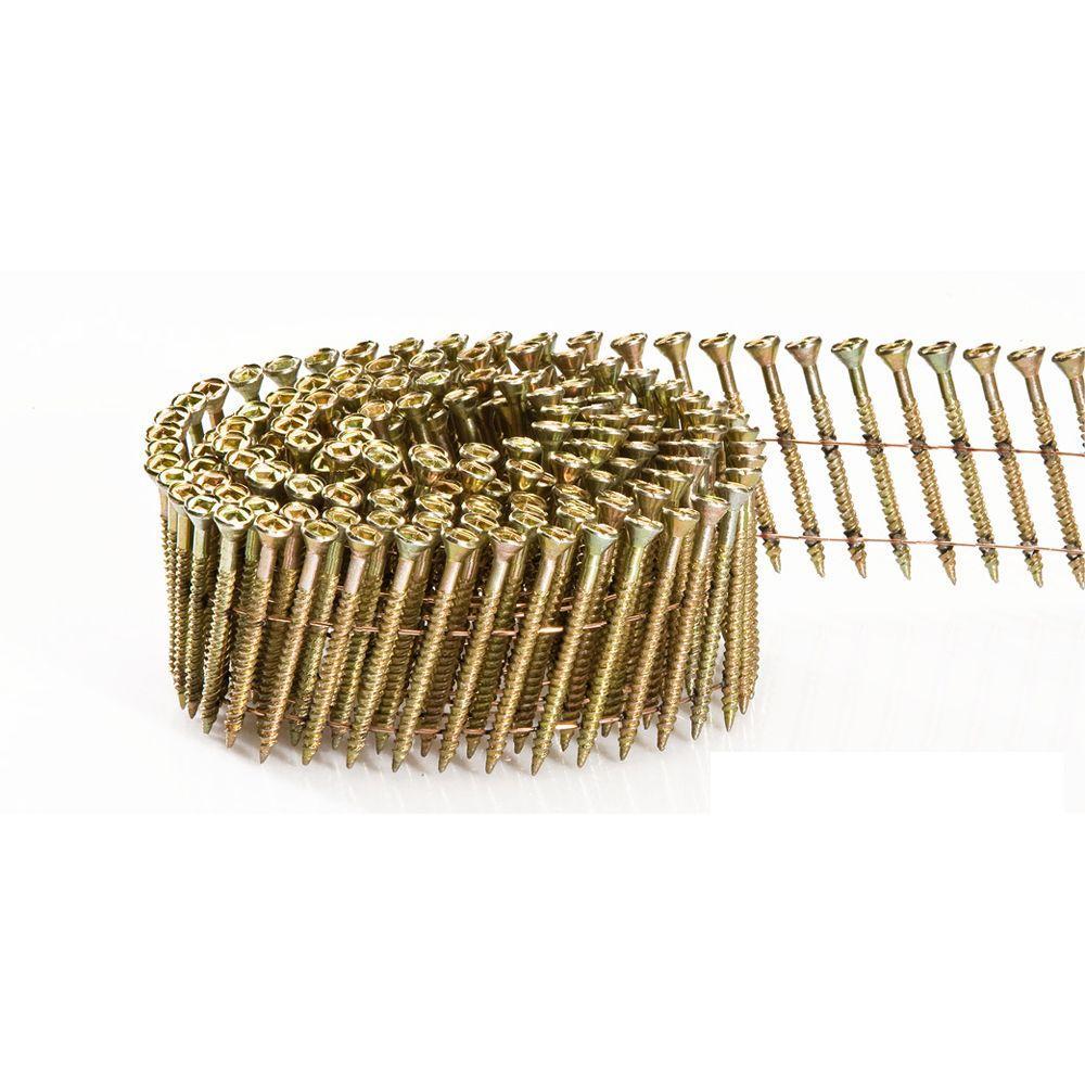 3 in. x 0.113 in. 15 Degree Wire Coil Square Head Nail Screw Fastener