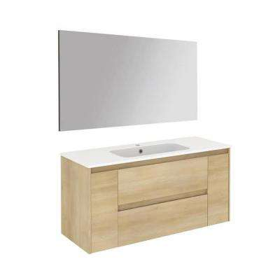 47.5 in. W x 18.1 in. D x 22.3 in. H Complete Bathroom Vanity Unit in Nordic Oak with Mirror