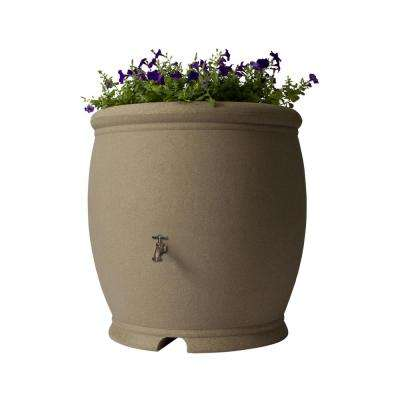 Barcelona 100 Gallon Rain Barrel, Sandstone