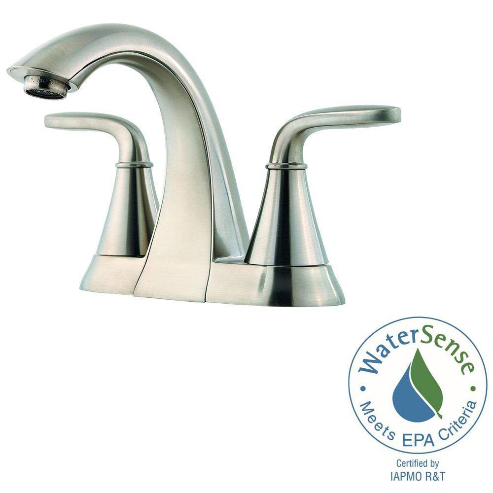 Pfister Pasadena 4 In Centerset 2 Handle Bathroom Faucet Brushed Nickel