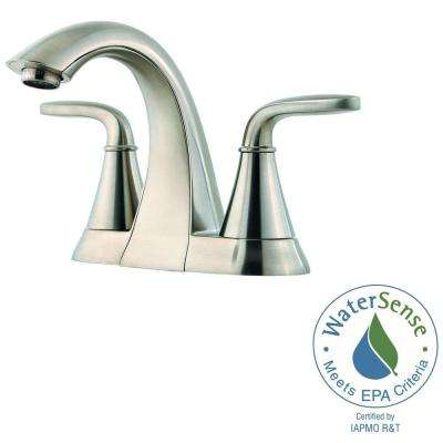 Pasadena 4 in. Centerset 2-Handle Bathroom Faucet in Brushed Nickel