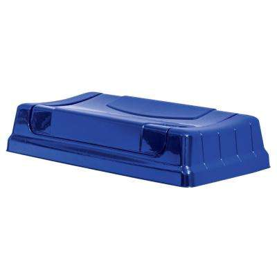 Highboy Swing Open Lid in Recycling Blue