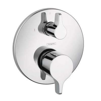 Metris S/E 2-Handle Pressure Balance Valve Trim Kit with Diverter in Chrome (Valve Not Included)