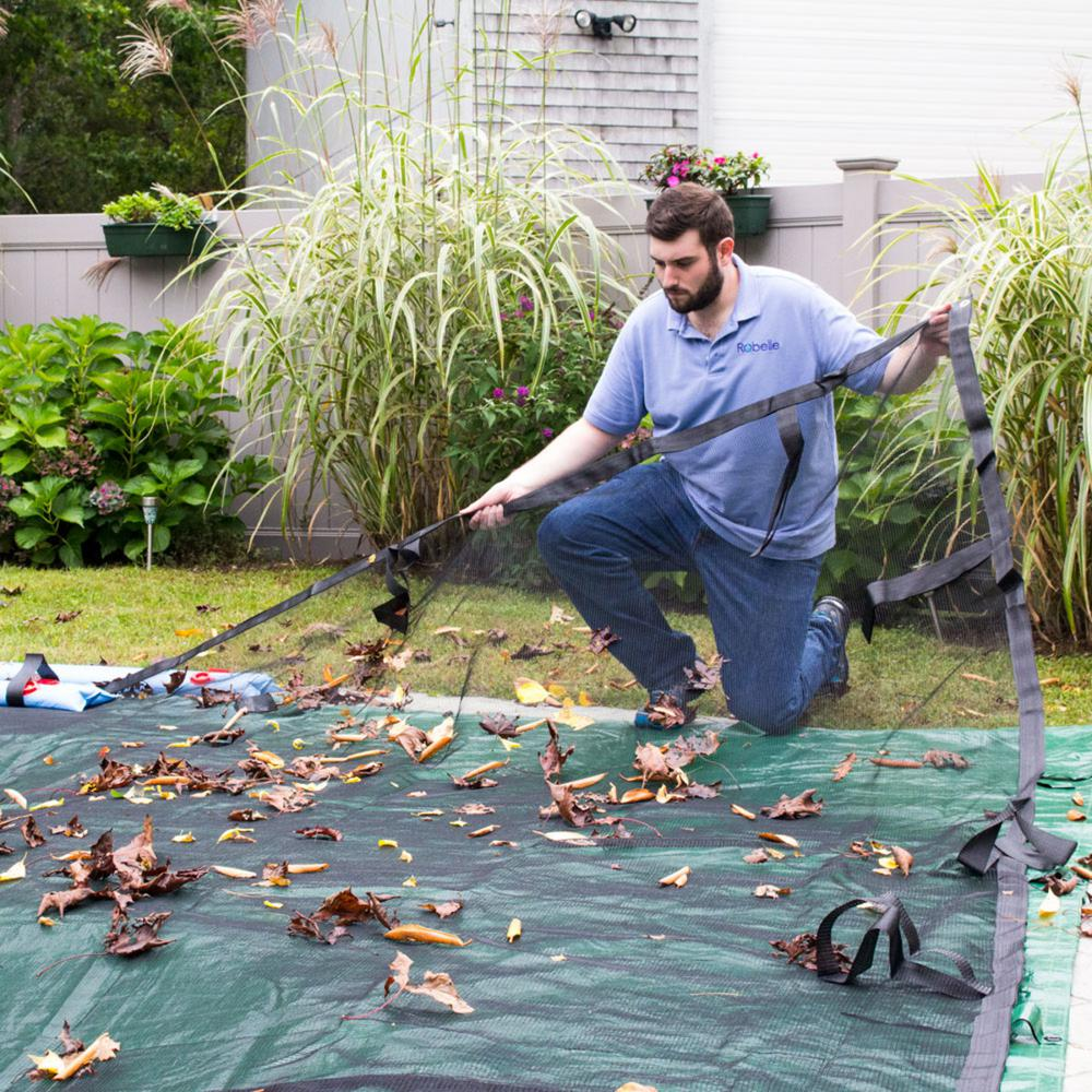 Robelle Robelle Premium 16 ft. x 36 ft. Rectangular In Ground Pool Leaf Net, Black