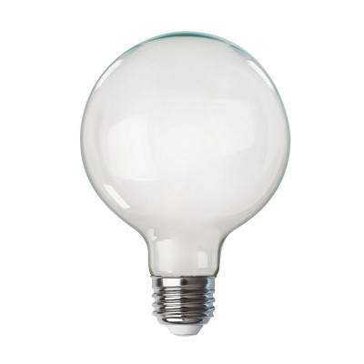 100-Watt Equivalent G40 Dimmable LED White Glass Vintage Edison Light Bulb With Spiral Filament Soft White