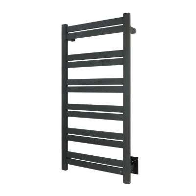 Elevate Grande 12-Bar Hardwire Electric Towel Warmer in Black Matte