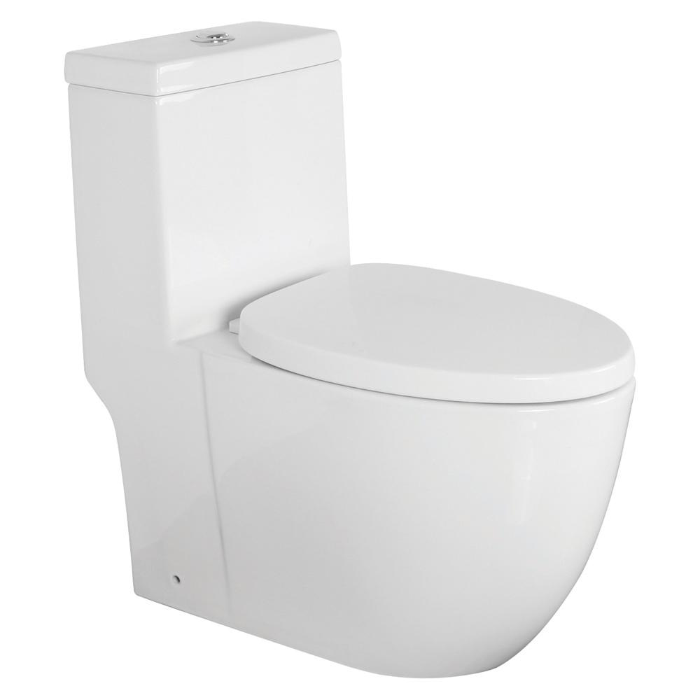 Prime Transolid Pierce 1 Piece 1 28 0 8 Gpf Dual Flush Elongated Toilet In White Seat Included Beatyapartments Chair Design Images Beatyapartmentscom