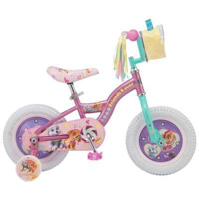 12 in. Girls' Bike for Ages 2-Years to 4-Years in Purple/Teal