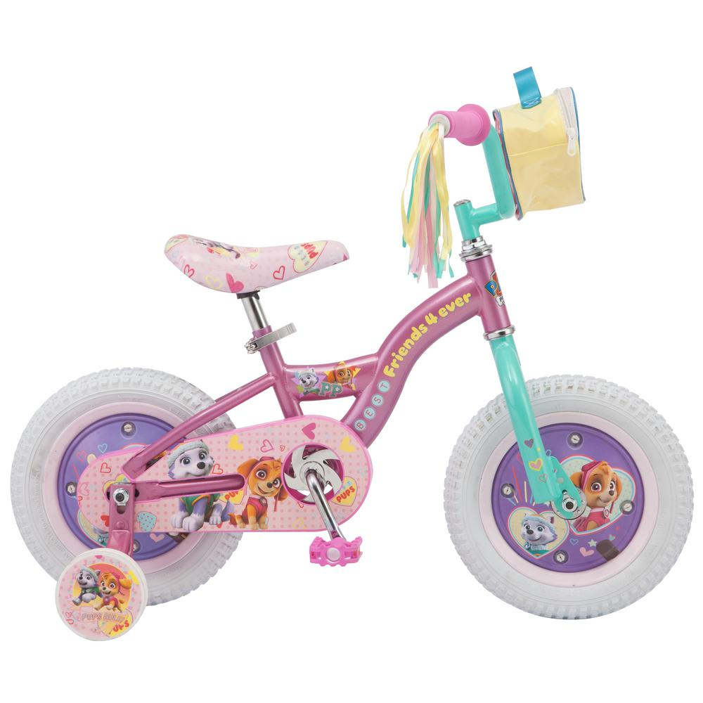 662eea1e2b1 Paw Patrol 12 in. Girls  Bike for Ages 2-Years to 4-Years in Purple ...
