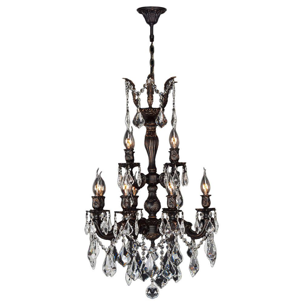 Worldwide Lighting Versailles 12-Light Flemish Brass Crystal Chandelier