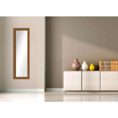 51.5 in. x 15.5 in. Dark Gold Framed Mirror