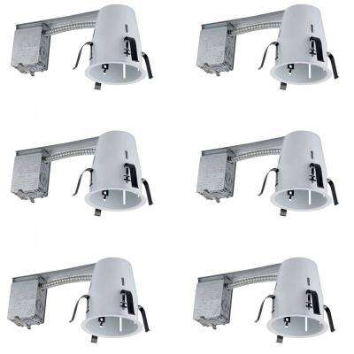 4 in. White Recessed Non-IC Remodel Housing (6-Pack)