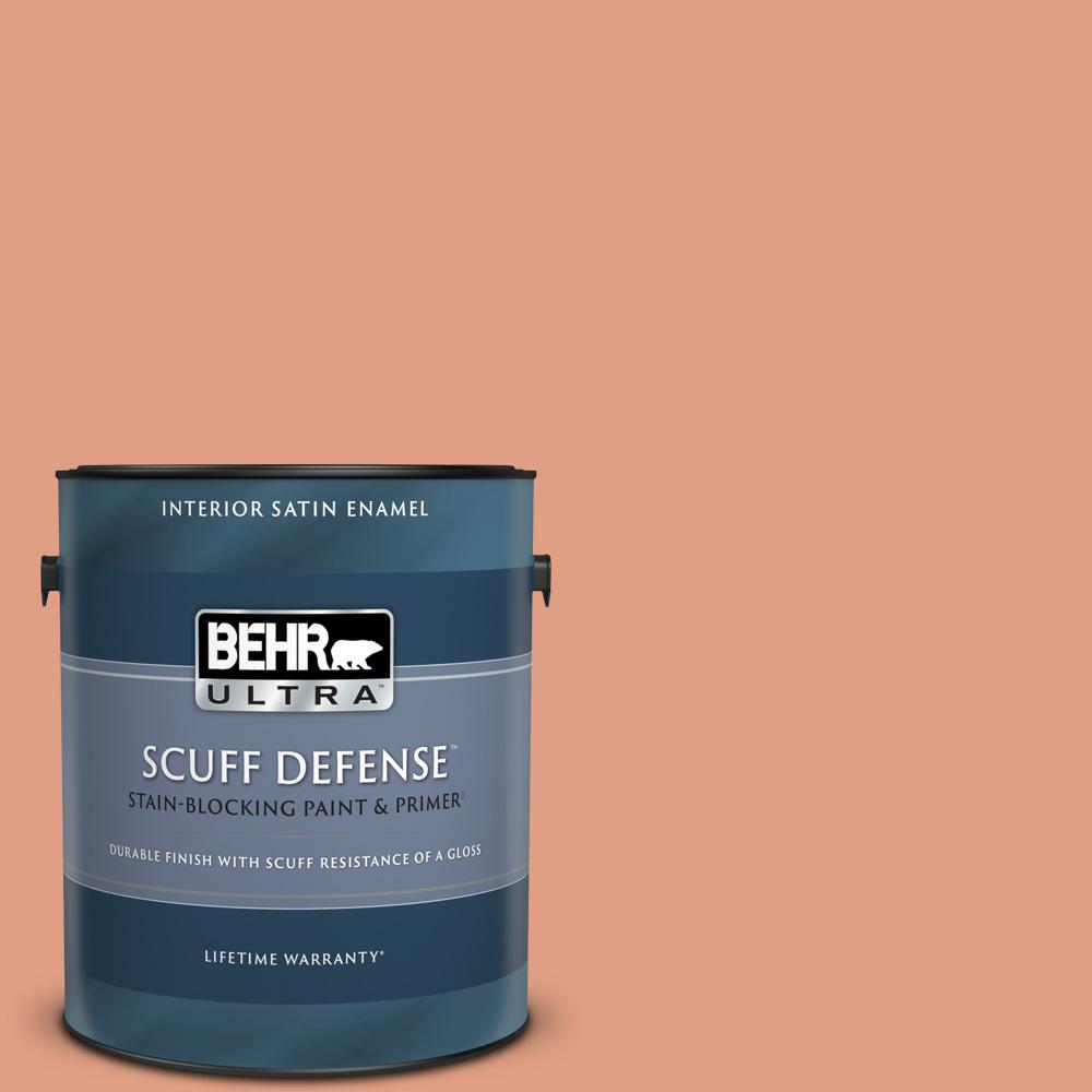 Reviews For Behr Ultra 1 Gal 220d 4 Southwest Stone Extra Durable Satin Enamel Interior Paint Primer 775401 The Home Depot