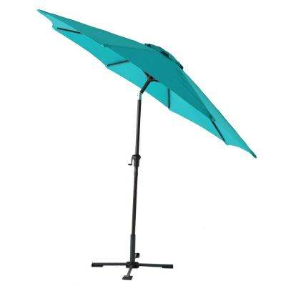 9 ft. Steel Tilt Patio Umbrella in Emerald Coast