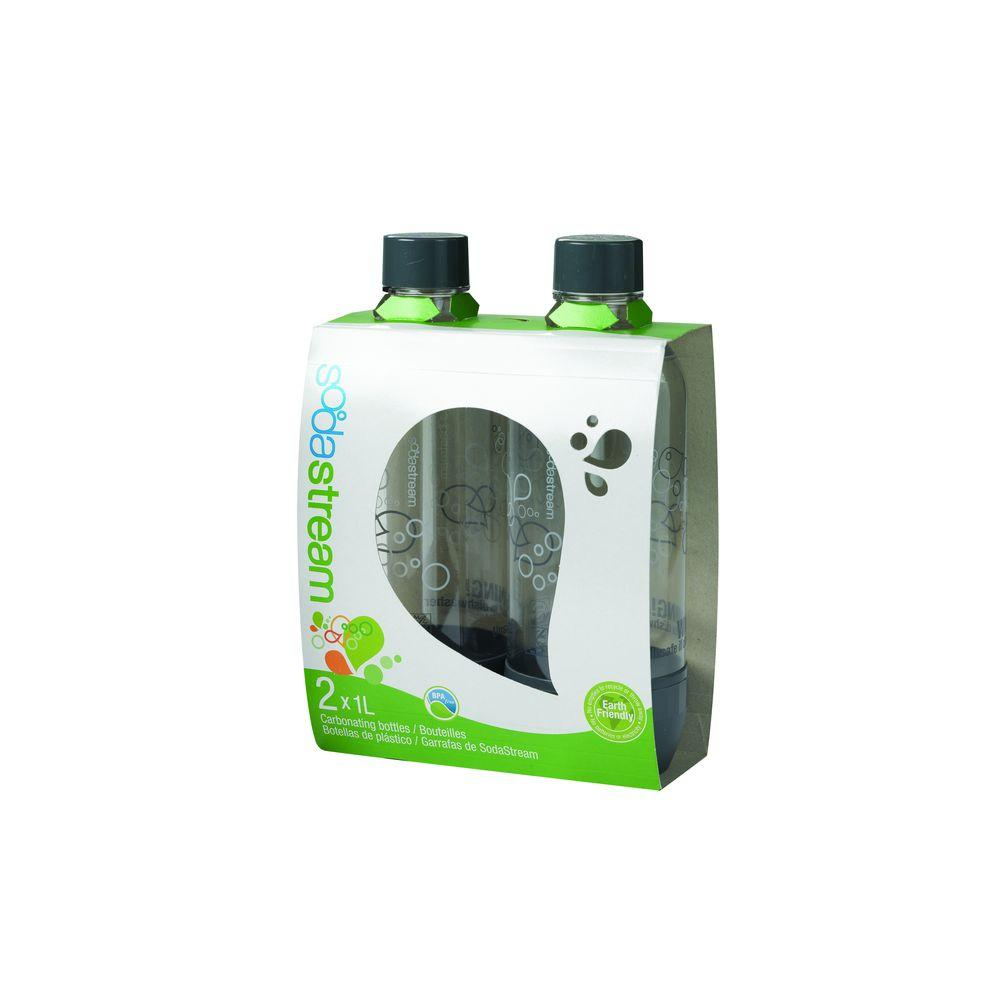 SodaStream 1 L Carbonating Bottles-Gray (2 Twinpacks)-DISCONTINUED
