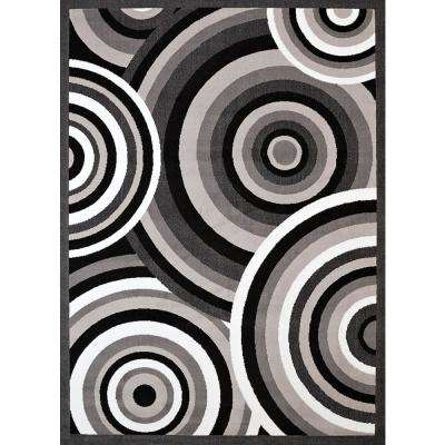 Cafe Cappuccino Grey 8 ft. x 11 ft. Oversize Rug
