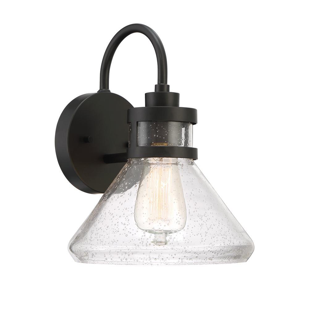 Creslee 1-Light Oil Rubbed Bronze Outdoor Wall Mount Lantern