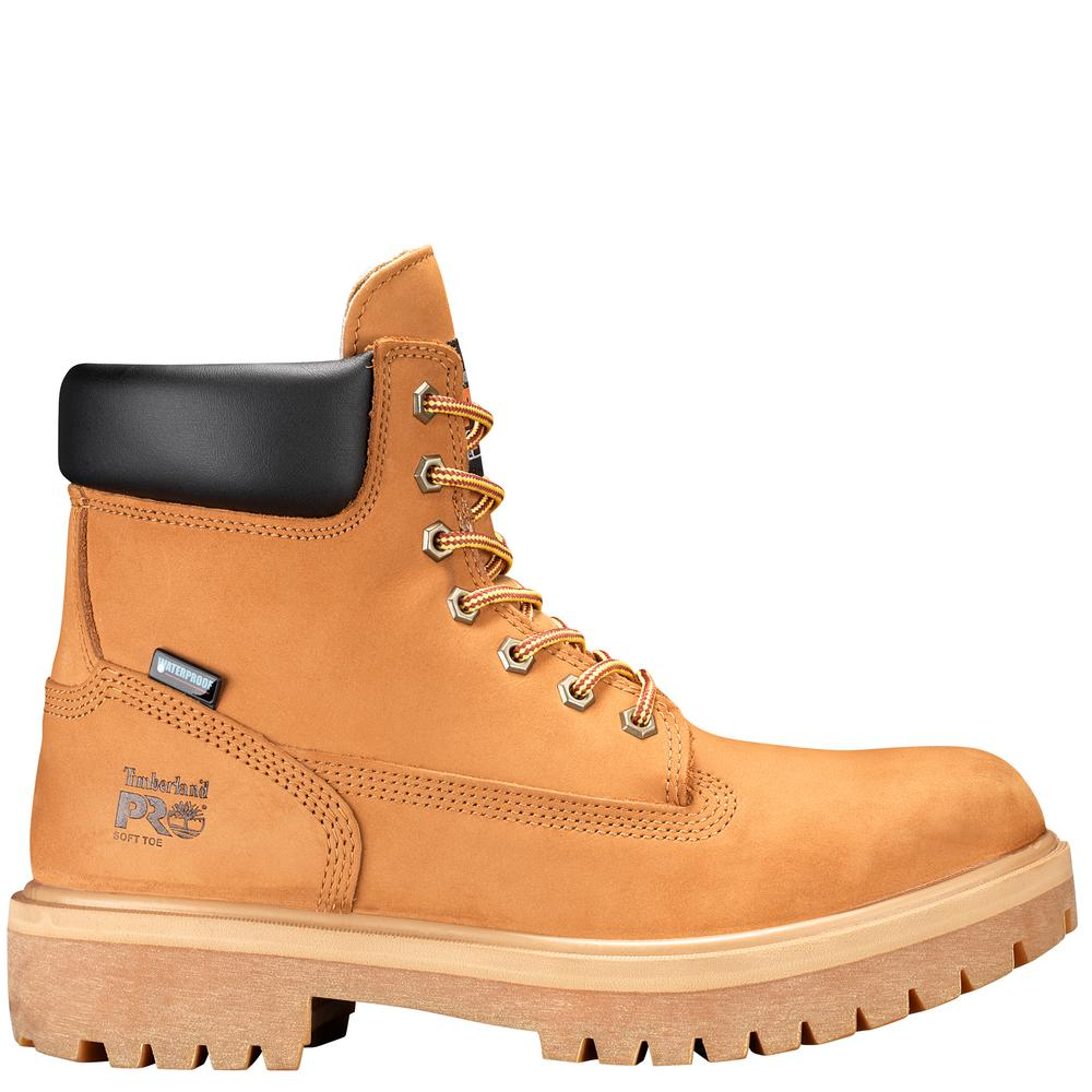 Timberland PRO Men's Direct Attach Waterproof 6'' Work Boots Soft Toe Wheat Size 11.5(W)