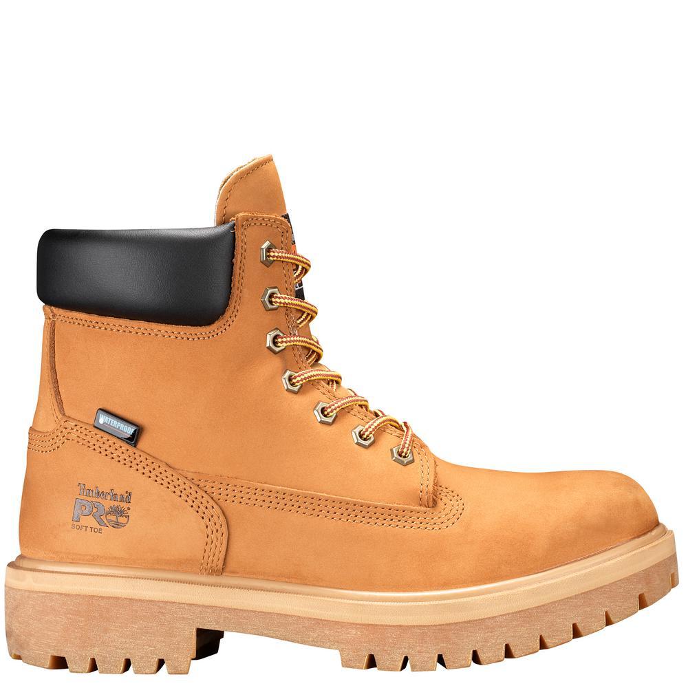 Timberland PRO Men's Direct Attach Waterproof 6'' Work Boots Soft Toe Wheat Size 14(M)