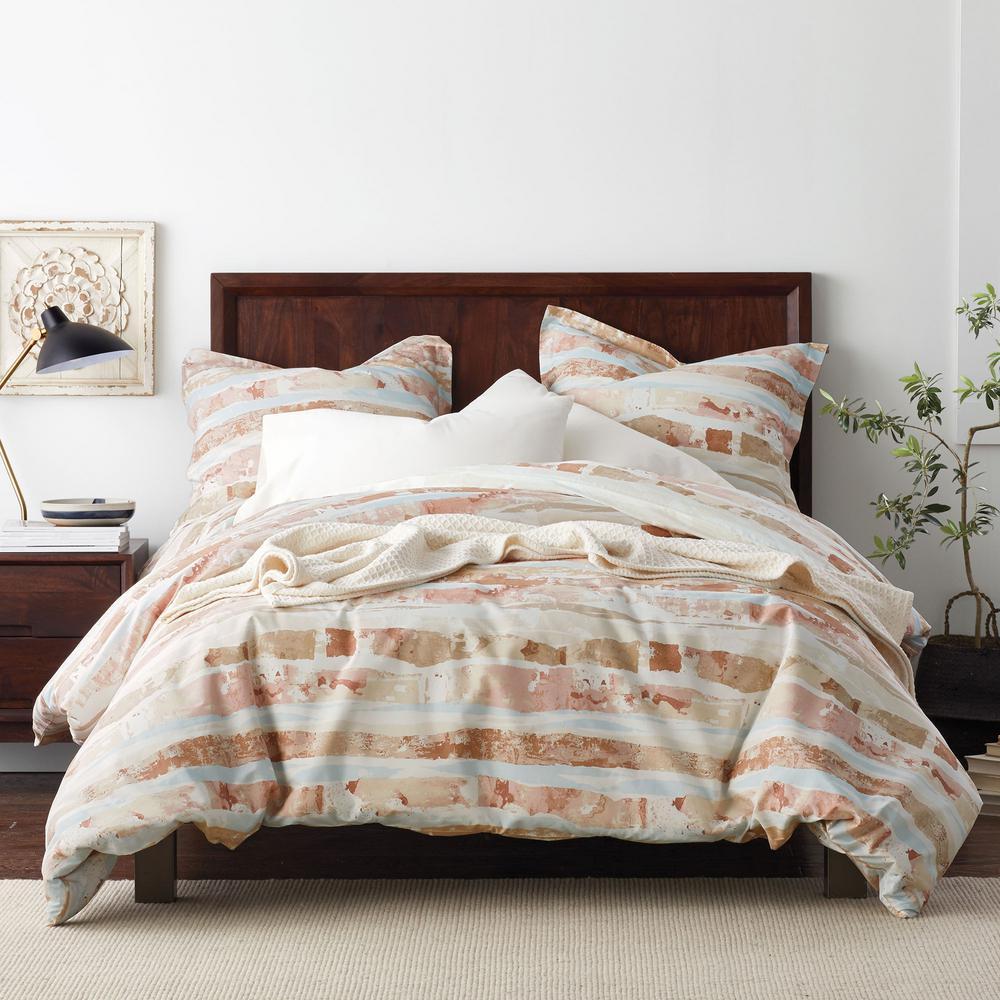 Sky Multicolored Geometric Organic Cotton Percale Twin Duvet Cover