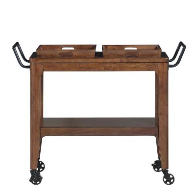 Adeline Walnut Kitchen Cart