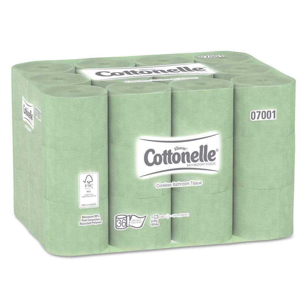 Cottonelle White 2-Ply Coreless Standard Bathroom Tissue (Case of 36)