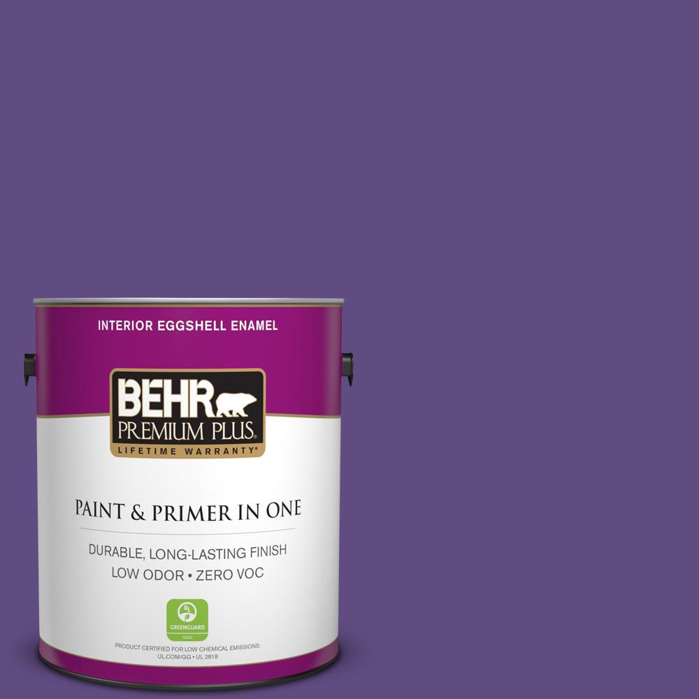 1 gal. #PPU16-02 Vigorous Violet Zero VOC Eggshell Enamel Interior Paint