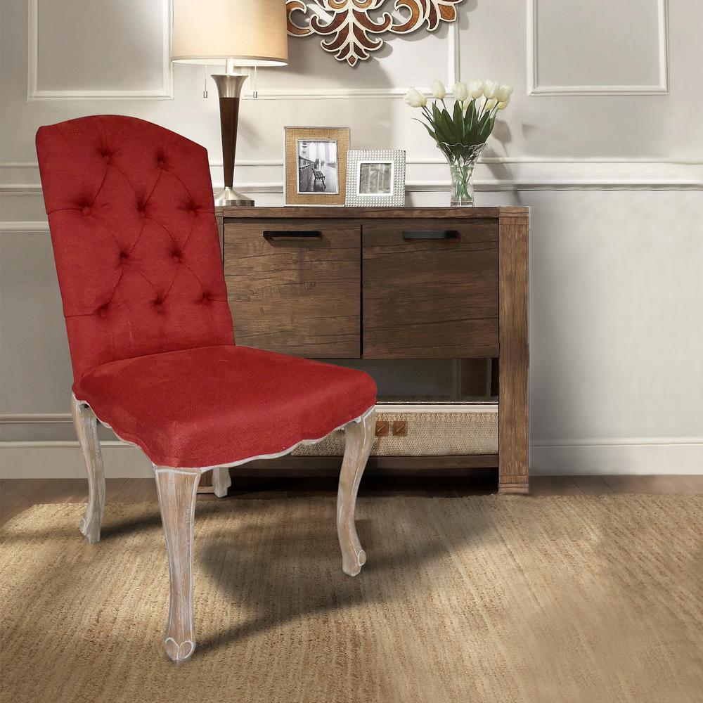 Kerri Brick Linen Dining Chair (Set of 2)