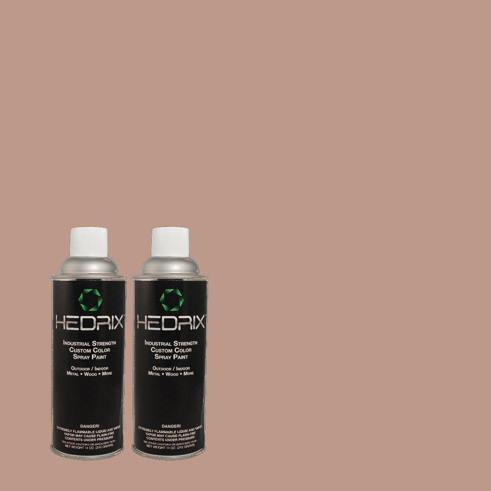 Hedrix 11 oz. Match of 3A31-3 Spice Float Semi-Gloss Custom Spray Paint (2-Pack)