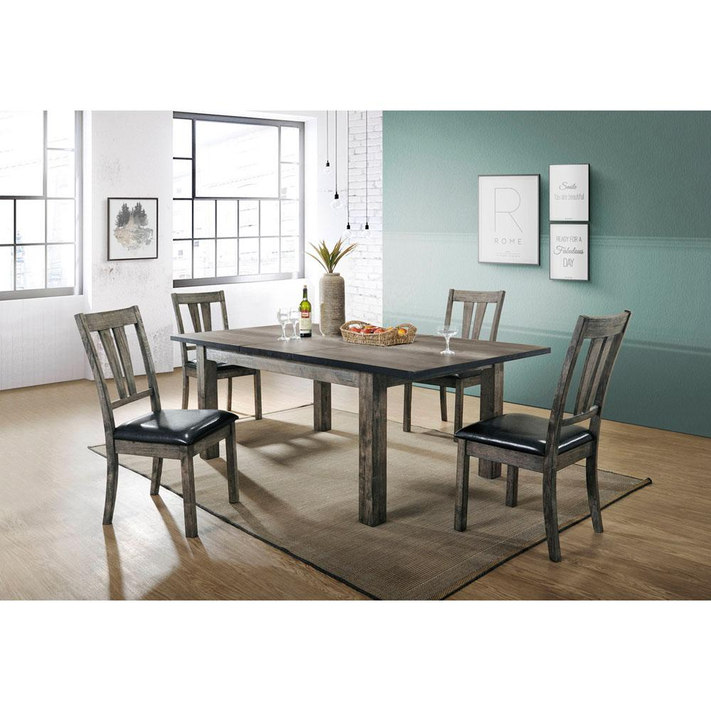 Cambridge Drexel 5 Piece Gray Dining Set With 4 Cushioned Chairs