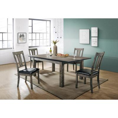 Drexel 5-Piece Gray Dining Set with 4 Cushioned Chairs