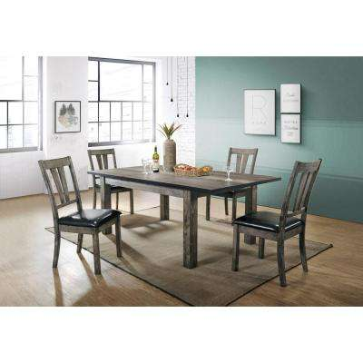 Drexel 5 Piece Gray Dining Set With 4 Cushioned Chairs