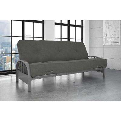 Aiden Full Size Futon Frame In Silver