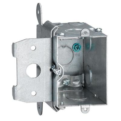 1-Gang 20 cu. in. New Work Adjustable Metal Electrical Wall Box (Case of 6)