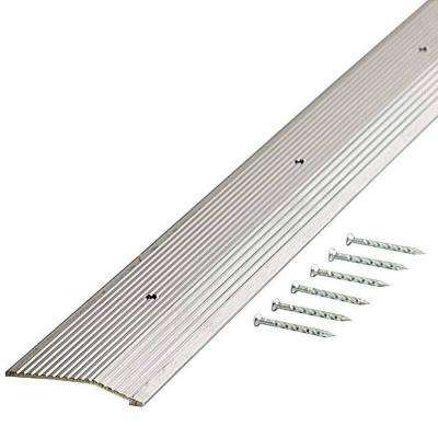 Silver Fluted 36 in. x 2 in. Carpet Trim