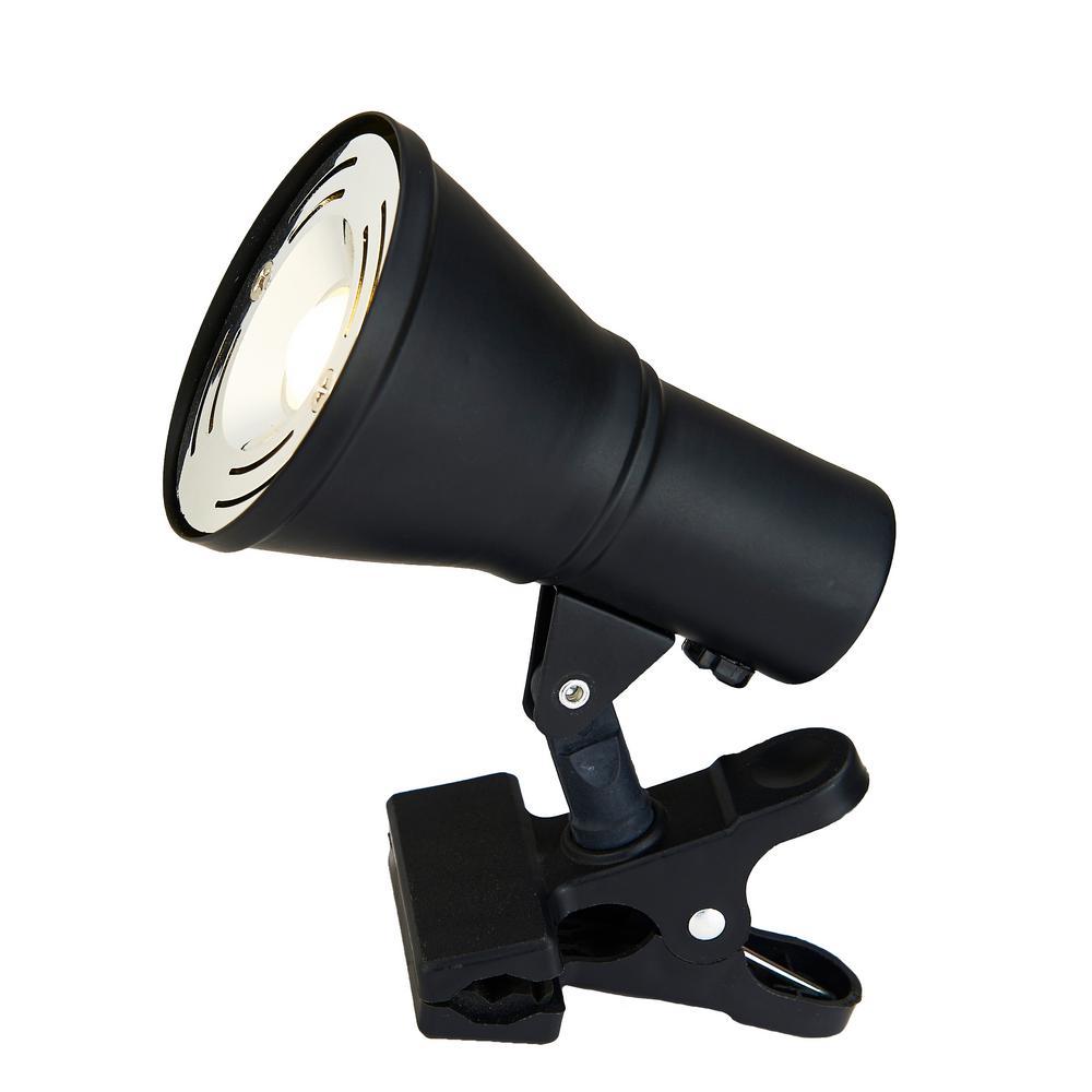 4.75 in. Integrated LED Black Mini Clip Lamp