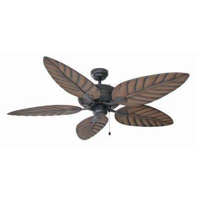 Martinique 52 in. Oil Rubbed Bronze Ceiling Fan with No Light Kit