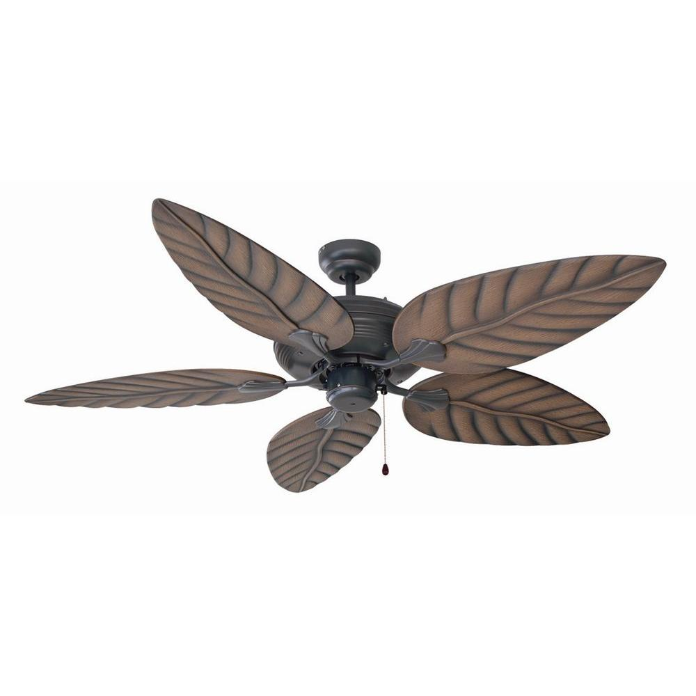 Indoor Outdoor Oil Rubbed Bronze Ceiling Fan With No