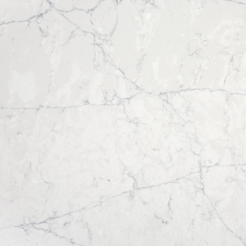 2 in. x 4 in. Quartz Countertop Sample in Pearl Jasmine