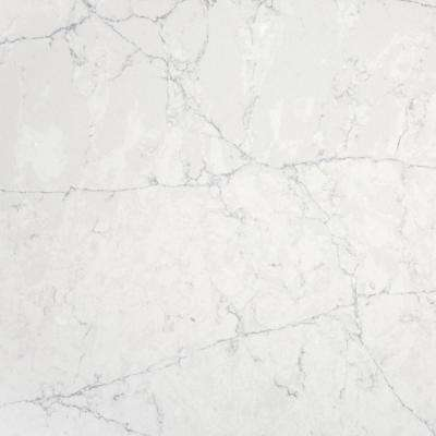 2 in. x 4 in. Quartz Countertop Sample in Pearl Jasmine