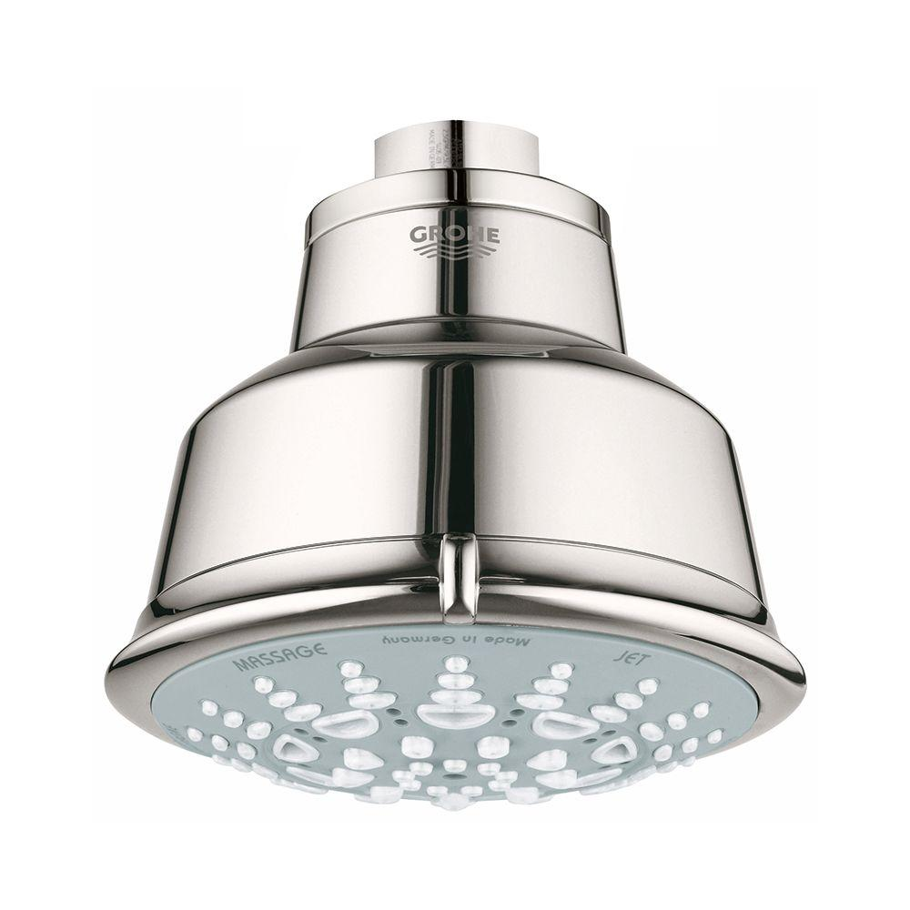 Relexa Rustic 5-Spray 3-15/16 in. Showerhead in Polished Nickel InfinityFinish