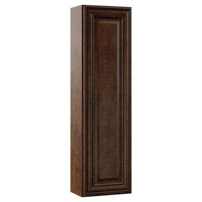 Oxford 12 in. W x 42 in. H x 7-1/4 in. D Bathroom Storage Wall Cabinet Hutch Only in Toasted Sienna