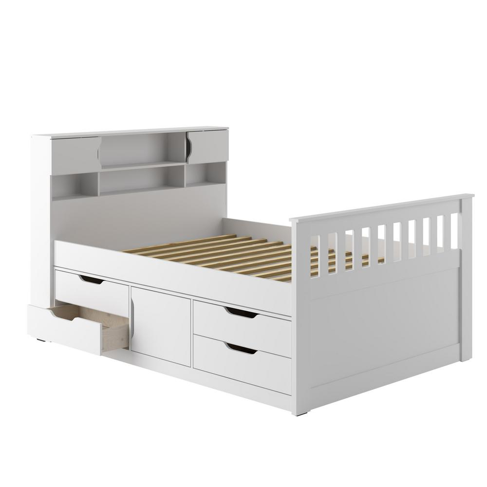 Corliving Snow White Full Double Captains Bed Madison
