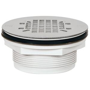 PVC Shower Drain With Strainer 828 2PK   The Home Depot